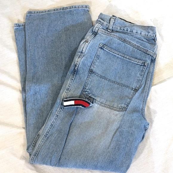 90's Vintage Blue Denim Tommy Hilfiger Carpenter Jeans